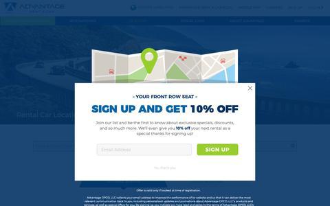 Screenshot of Locations Page advantage.com - Car Rental Locations | Convenience  | Advantage Rent A Car - captured Nov. 7, 2018