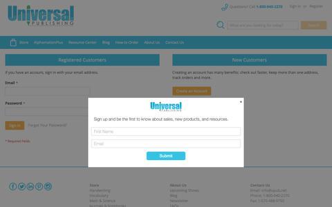 Screenshot of Login Page upub.net - Customer Login - captured Dec. 20, 2018