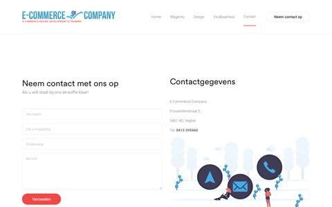 Screenshot of Contact Page e-commercecompany.nl - Contact – E-commerce Company - captured Feb. 15, 2020