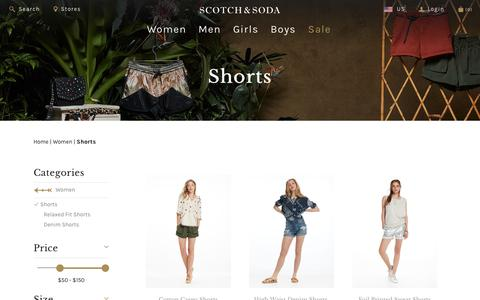 Women's Shorts | Maison Scotch | Official Webstore