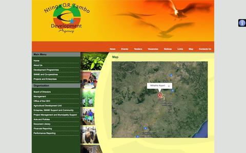 Screenshot of Maps & Directions Page ntinga.org.za - Map - captured Oct. 6, 2014