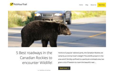 Screenshot of Blog pickyourtrail.com - PickYourTrail Blog - Stop Touring. Start Travelling. - captured Jan. 10, 2016
