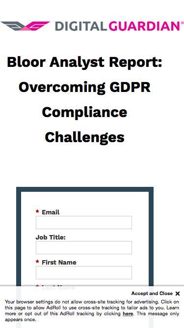 Bloor Analyst Report: Overcoming GDPR Compliance Challenges