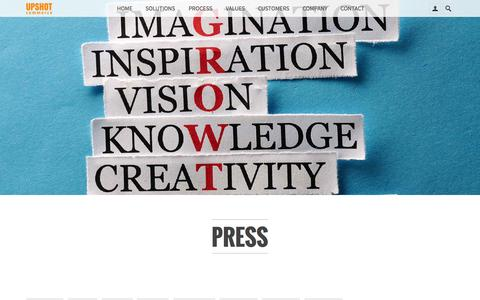 Screenshot of Press Page upshotcommerce.com - ECommerce Software Press Upshot Commerce - captured Oct. 2, 2015