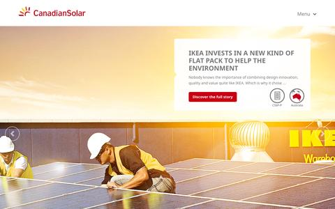 Screenshot of Home Page canadiansolar.com - Canadian Solar - Home - captured Jan. 23, 2015