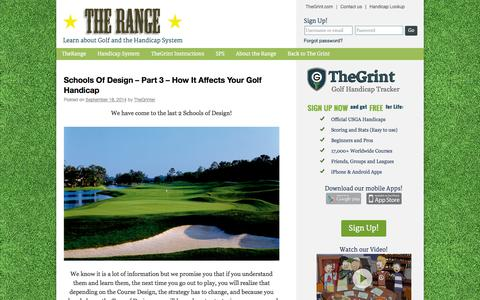 Screenshot of Blog thegrint.com - The Range @ TheGrint.com | Our Blog to Learn and PlayThe Range @ TheGrint.com | Our Blog to Learn and Play - captured Sept. 22, 2014