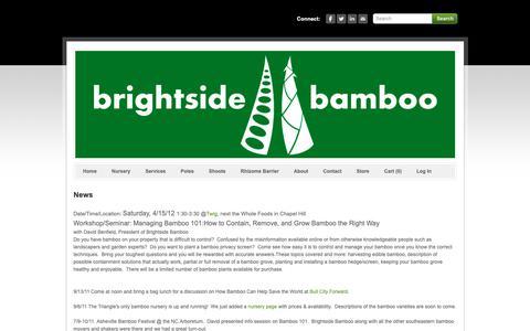 Screenshot of Press Page brightsidebamboo.com - News - captured Dec. 9, 2018