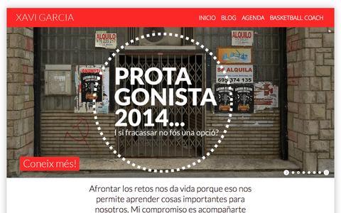 Screenshot of Home Page xaviergarcia.com - Xavier Garcia - captured Oct. 7, 2014