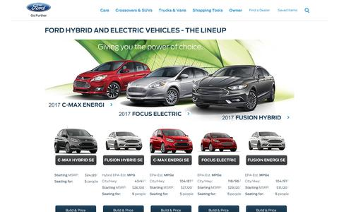 New Hybrid Electric Vehicles (HEVs), Battery Electric Vehicles (BEVs) and Plug-ins from Ford | Ford.com