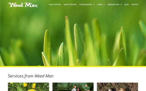 Screenshot of Services Page weedmancanada.com - Our Weed Control & Lawn Care Services | Weed Man Canada - captured June 29, 2018