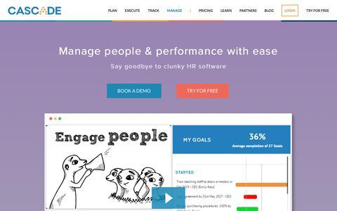 Screenshot of executestrategy.net - Performance Management Software | Cascade Strategy - captured Dec. 7, 2017