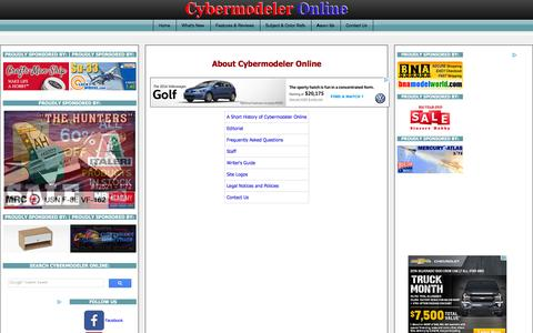 Screenshot of About Page cybermodeler.com - About Cybermodeler Online - captured Feb. 2, 2016
