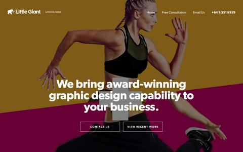 Little Giant - Graphic design Auckland | Graphic designers