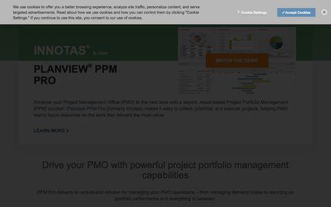 Planview PPM Pro (formerly Innotas) project portfolio management software