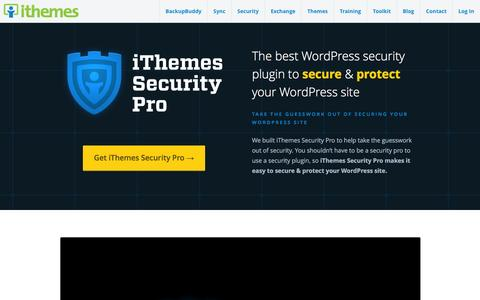 Screenshot of Support Page ithemes.com - iThemes Security Pro: The Best WordPress Security Plugin :: iThemes - captured Jan. 5, 2016