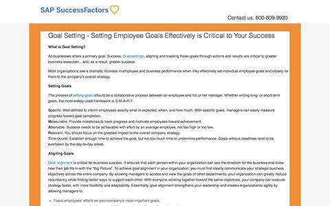 Goal Setting | Setting Employee Goals Effectively