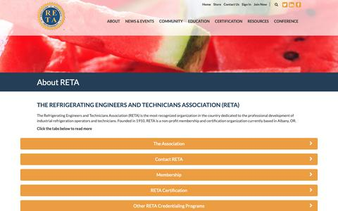 Screenshot of FAQ Page reta.com - FAQs - RETA - captured Oct. 21, 2018