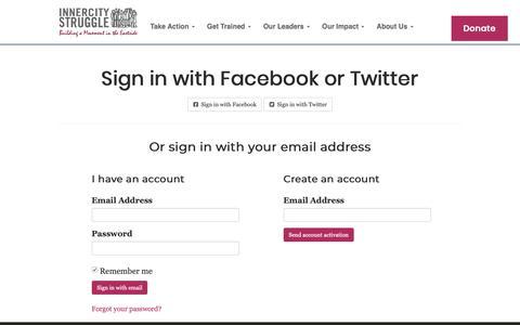 Screenshot of Login Page nationbuilder.com - Sign in - captured Oct. 25, 2018