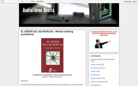 Screenshot of Home Page losmejoresaudiolibrosgratis.blogspot.mx - LOS MEJORES AUDIOLIBROS GRATIS - captured Jan. 19, 2016