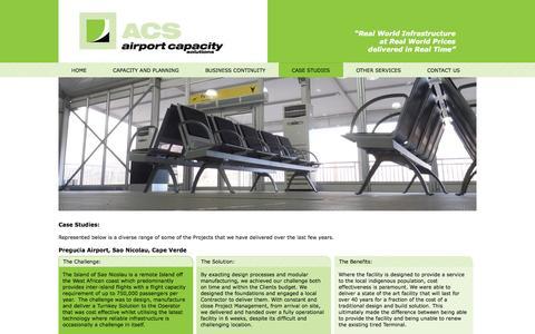 Screenshot of Case Studies Page airportcapacitysolutions.com - Airport Capacity Solutions - Case Studies - captured Oct. 4, 2014