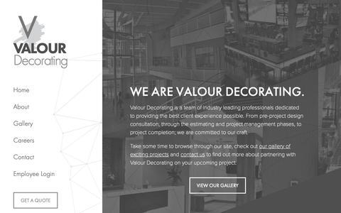 Screenshot of Home Page valourdecorating.com captured Dec. 10, 2018