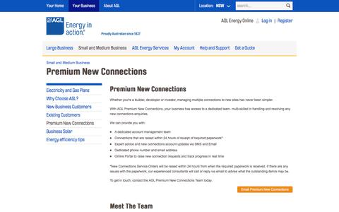 AGL - Premium New Connections