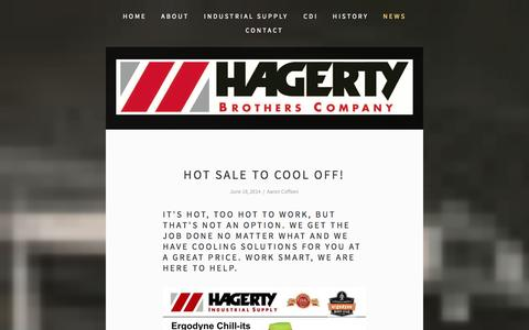 Screenshot of Press Page hagertybrothers.com - News — Hagerty Brothers Company - captured Oct. 1, 2014