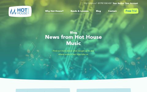 Screenshot of Blog hhmusic.co.uk - Hot House Music Blog, News Updates and more - captured Sept. 3, 2017