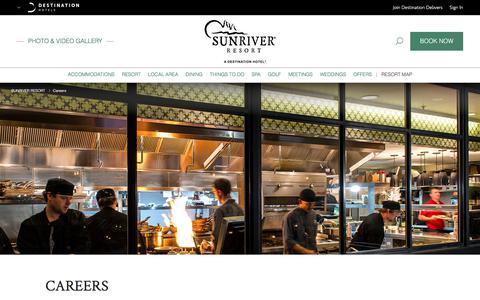 Screenshot of Jobs Page destinationhotels.com - Hotel Jobs Sunriver OR | Sunriver Resort - Careers - captured June 28, 2017