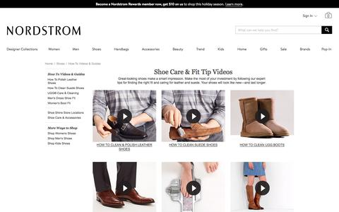 How to Clean Shoes | Shoe Care, Fit Tips: Videos | Nordstrom