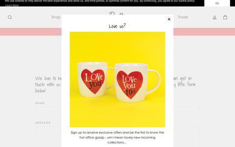 Screenshot of Contact Page reallygood.uk.com - Contact Us | Really Good - captured Nov. 7, 2018