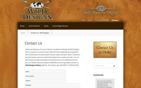 Screenshot of Contact Page wildesigns.net - Contact Us • Wild Designs | Wild Designs - captured July 1, 2018