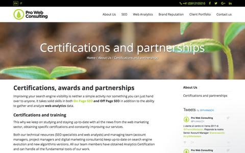 SEO Certifications and Partnerships | Pro Web Consulting