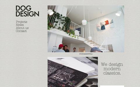 Screenshot of Home Page dogdesign.fi - Dog Design - captured Jan. 7, 2016