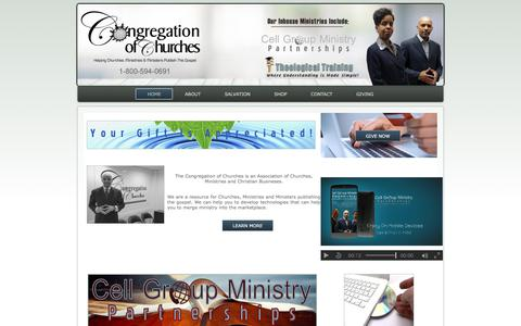 Screenshot of Home Page congregationofchurches.org - The Congregation of Churches - captured July 29, 2017