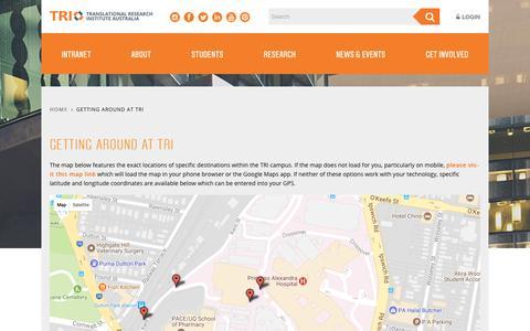 Screenshot of Maps & Directions Page tri.edu.au - Getting Around At TRI | Translational Research Institute - captured Nov. 17, 2017