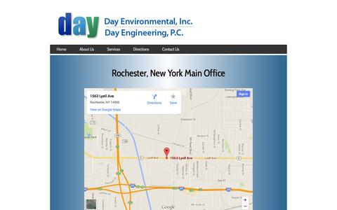 Screenshot of Maps & Directions Page dayenvironmental.com - Day Environmental, Inc. and Day Engineering, P.C. - captured Oct. 5, 2014