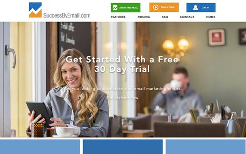 Screenshot of Trial Page successbyemail.com - SuccessByEmail | FREE Trial - captured Oct. 24, 2017
