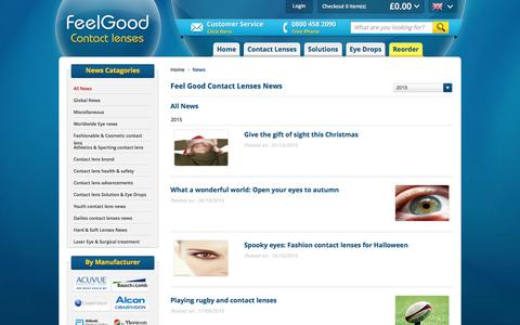 Screenshot of Press Page feelgoodcontacts.com - All News | Articles | FeelGoodContacts.com - captured Jan. 23, 2016