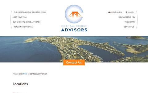 Screenshot of Contact Page coastalbridgeadvisors.com - Contact Us | Coastal Bridge Advisors - captured Oct. 18, 2019