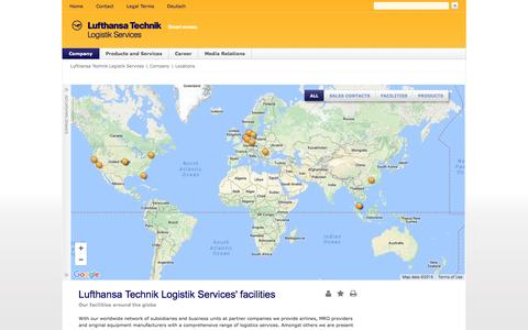 Screenshot of Locations Page ltls.aero - Locations - Lufthansa Technik Logistik Services - captured Nov. 15, 2016