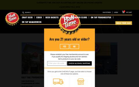 Screenshot of Maps & Directions Page halftimebeverage.com - World's Largest Selection of Beer Online - Directions to Half Time - captured Sept. 26, 2018