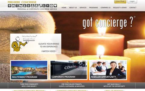 Screenshot of Home Page premiere-concierge.com - Concierge Services   Personal Concierge � Premiere-concierge - captured Jan. 18, 2016