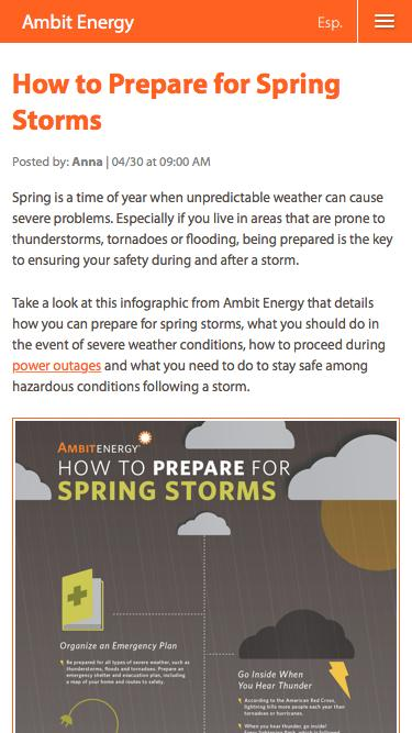 How to Prepare for Spring Storms | Ambit Energy