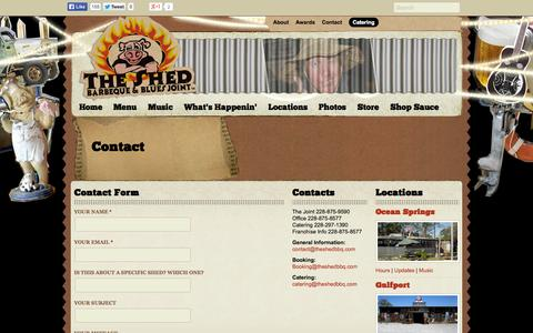 Screenshot of Contact Page theshedbbq.com - Contact - The Shed Barbeque & Blues Joint - captured Oct. 9, 2014