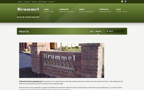 Screenshot of About Page brummellawn.com - About Us –  Brummel Lawn & Landscape LLC - captured Feb. 8, 2016
