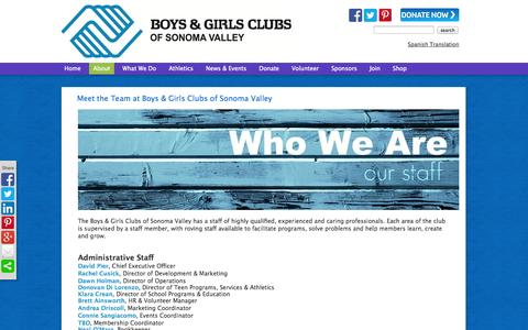 Screenshot of Team Page bgcsonoma.org - Boys and Girls Clubs, Staff - captured Oct. 5, 2014
