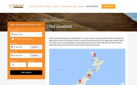 Screenshot of Locations Page smartcarrental.co.nz - Locations – Smart Car Rental | Auckland -NZ – Smart Car Rentals - captured April 11, 2017