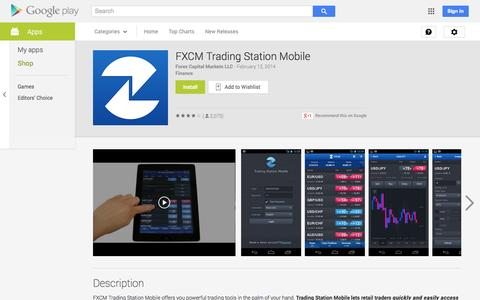 Screenshot of Android App Page google.com - FXCM Trading Station Mobile - Android Apps on Google Play - captured Nov. 2, 2014