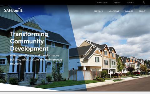 Screenshot of Home Page safebuilt.com - SAFEbuilt - Community Development Solutions - captured March 29, 2019